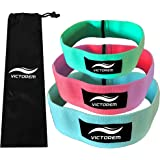 Victorem Hip Bands - Set of 3 - Thigh - Hip Resistance- Booty Exercise Resistance Bands - Low, Medium and Heavy Loop Set - Stretching, Lifting, Squatting, Pilates, Crossfit Workouts