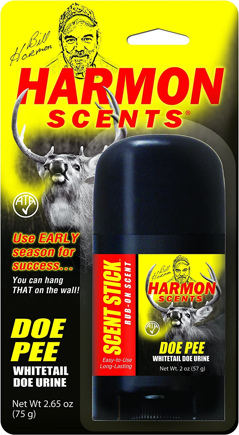 Harmon Scents - Doe Pee - Rub On Scent Stick - HDPSS - Whitetail Urines - Deer Hunting Attractant