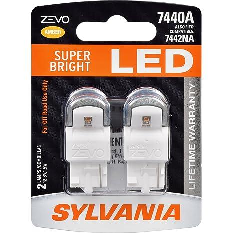 Amazon.com: SYLVANIA - 7440 T20 ZEVO LED Amber Bulb - Bright LED Bulb, Ideal for Park and Turn Signals (Contains 2 Bulbs): Automotive