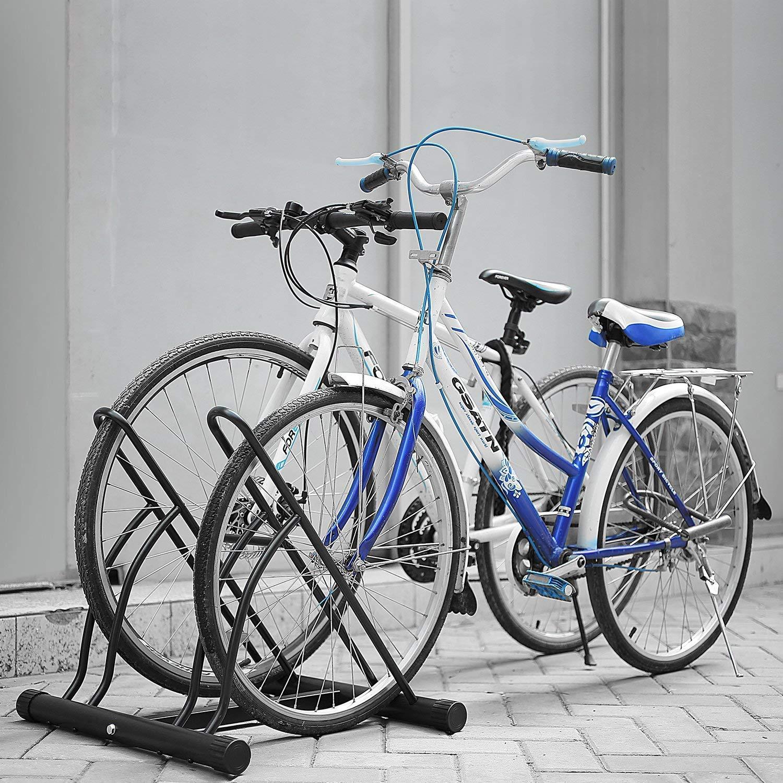 Femor Floor Mount Bicycle Rack For 2 Bikes Stand Double