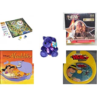 Children's Fun & Educational Gift Bundle - Ages 6-12 [5 Piece] - Includes: Game - Toy - Plush - Hardcover Book - Paperback Book - No. dbund-6-12-26767