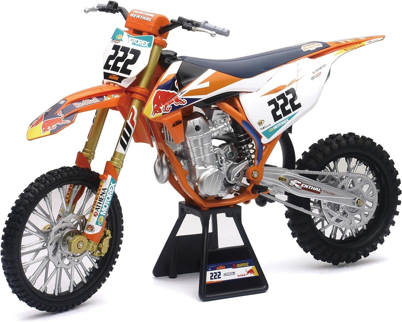 Newray 49673 Ktm 450 Sx F Red Bull T Cairoli 2018 Motorcycle Model 1 6 Spielzeug