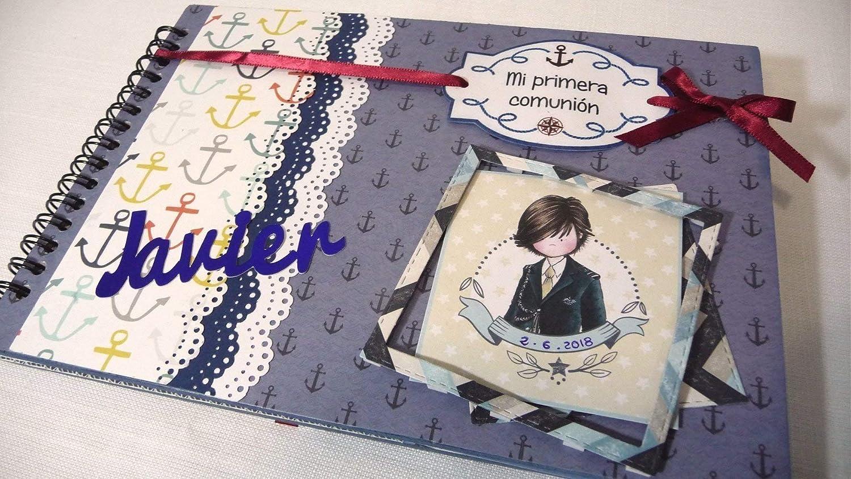 Libro de firmas de comunión PERSONALIZADO niño 0552. Album