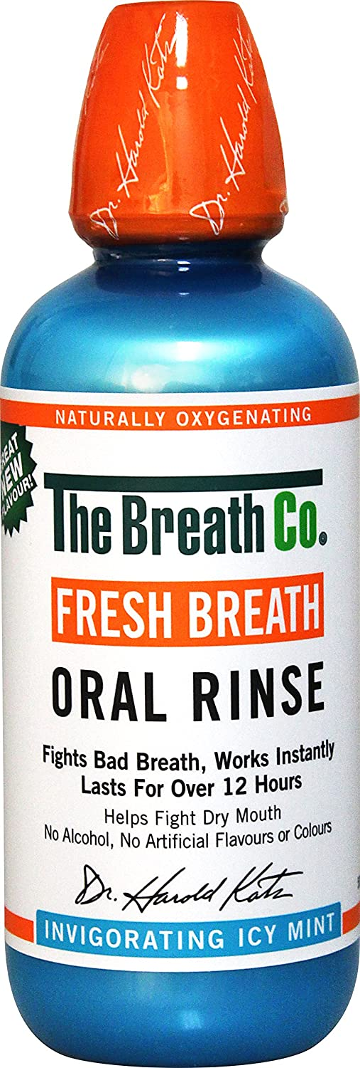 The Breath Co Fresco Respiración Oral Enjuague - 500 ml, Icy Menta: Amazon.es: Salud y cuidado personal