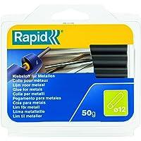 Rapid, 40107352, Bâtons de colle thermofusible, Pour le métal, Gris, ø12mm, Longueur 94mm, 50g