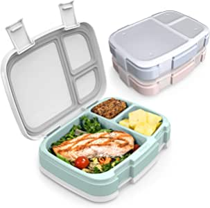 Bentgo Fresh 3-Pack Meal Prep Lunch Box Set - Reusable 3-Compartment Containers for Meal Prepping, Healthy Eating On-the-Go, and Balanced Portion-Control – BPA-Free, Microwave & Dishwasher Safe