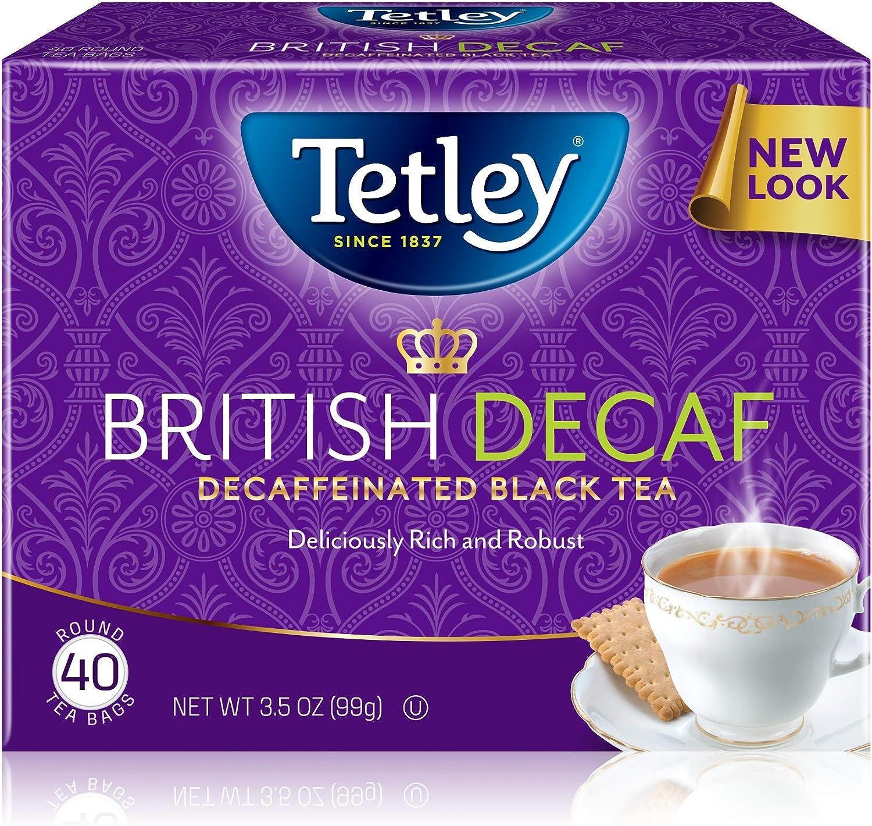 Tetley Premium Black Tea, Decaffeinated British Blend, 40 Tea Bags (Pack of 6)