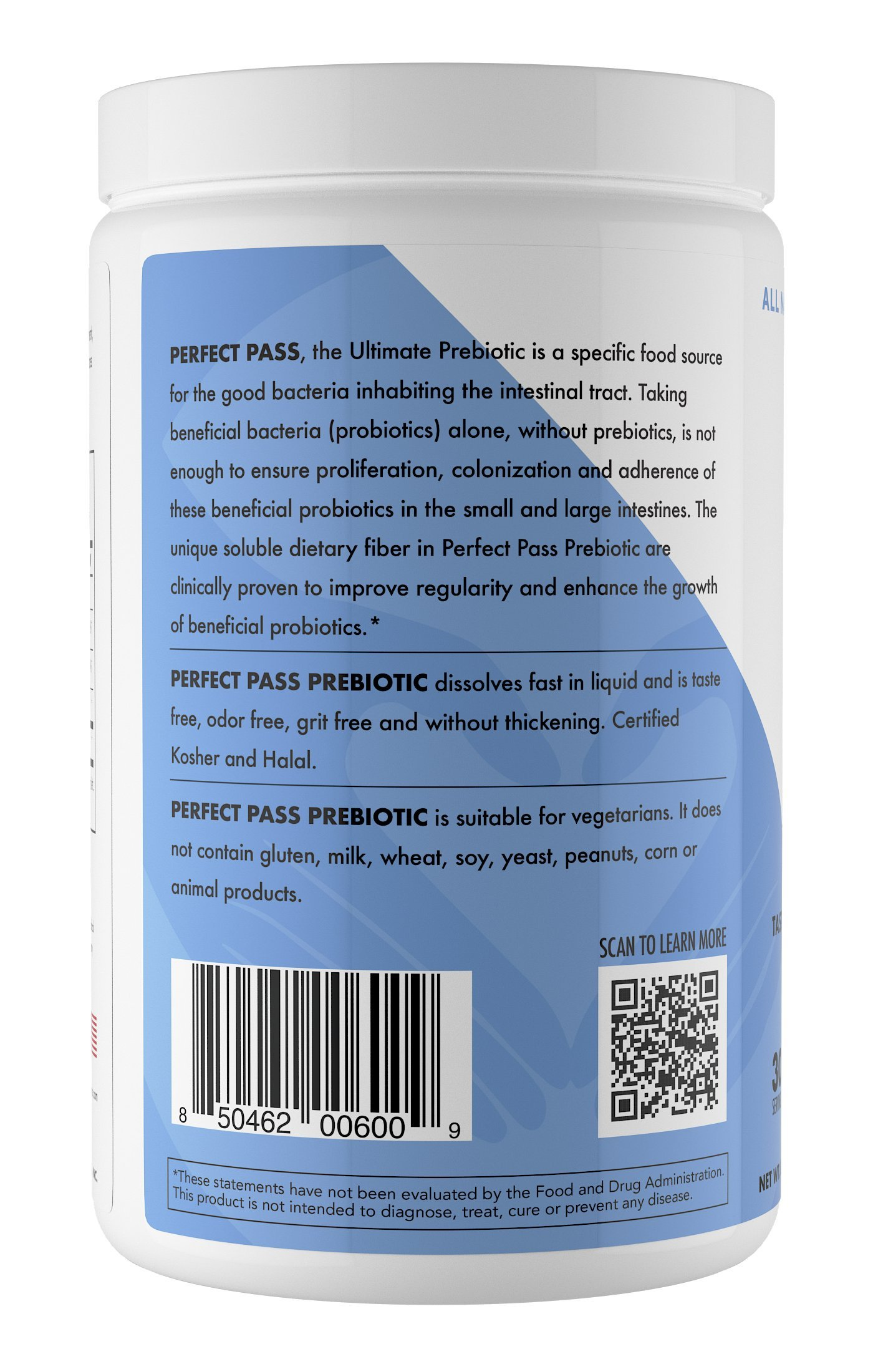 Perfect Pass Prebiotic PHGG Partially Hydrolyzed Guar Gum 210g Powder - 100% Natural Gluten Free Non GMO - Certified Kosher Vegetarian Sugar Free by PERFECT PASS (Image #3)
