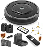 iRobot Roomba 880 Vacuum Cleaning Robot with 2 Virtual Wall Lighthouses (with Batteries), Remote Control (with Batteries), 3 Side Brushes, Hepa Filter, Dock Station and Manuals