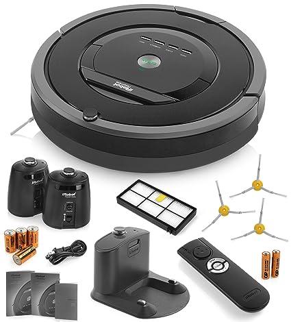 iRobot Aspiradora Roomba 880 limpieza Robot 2 faros de pared Virtual (con baterías) +