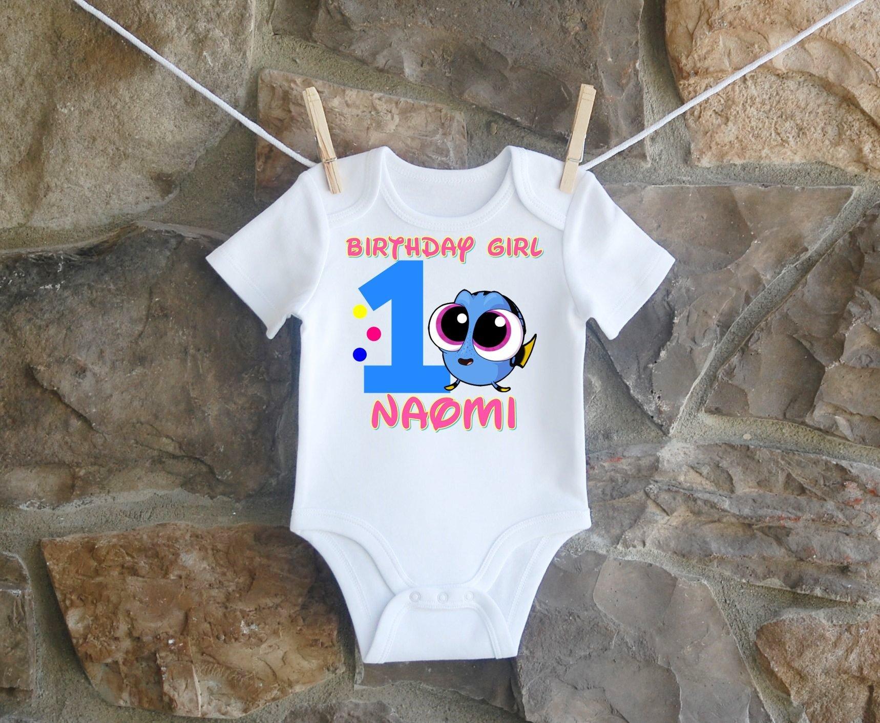 Finding Dory Birthday Shirt, Finding Dory Birthday Shirt For Girls, Personalized Girls Dory Birthday Shirt, Customized Finding Dory Birthday Shirt