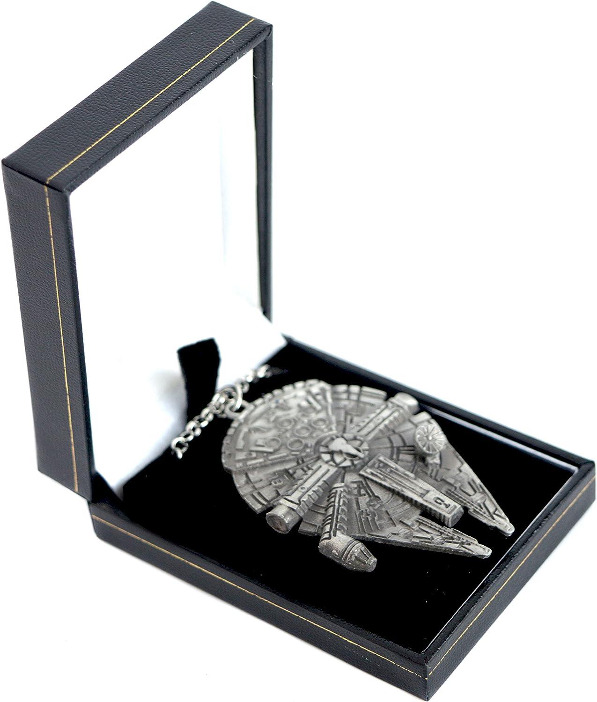 Star Wars/ /Pendentif Starship en bo/îte cadeau /Collier Femme/ /Accessoires/ /Palladium Millenium Falcon/