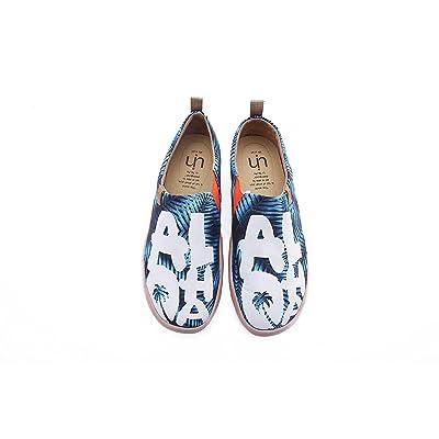 UIN Men's Aloha Canvas Travel Comfort Slip On shoes Blue