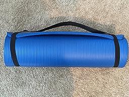 Amazon.com : Yoga Exercise Floor Mat Of Premium Quality 1/2-Inch ...
