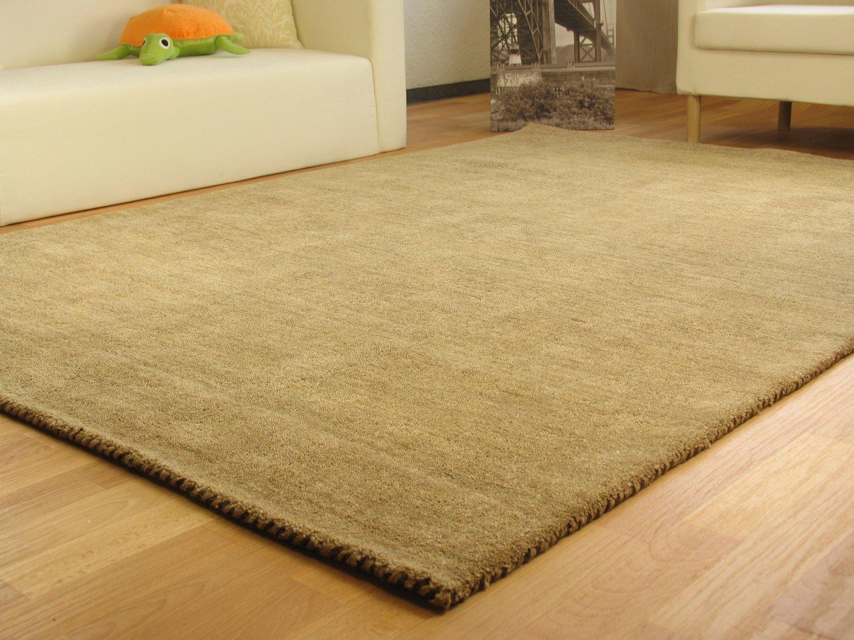 Gabbeh Teppich Nomade - Handarbeit aus 100% Schurwolle - sand, Größe  65x135 cm