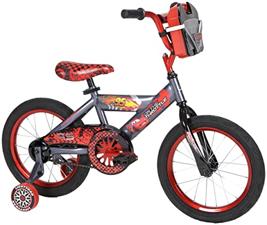 95987e10a22 Get your little Cars fan all fired up with this bicycle featuring the  film's own Lightning McQueen – ka-chow! It even features a removable die  cast car ...