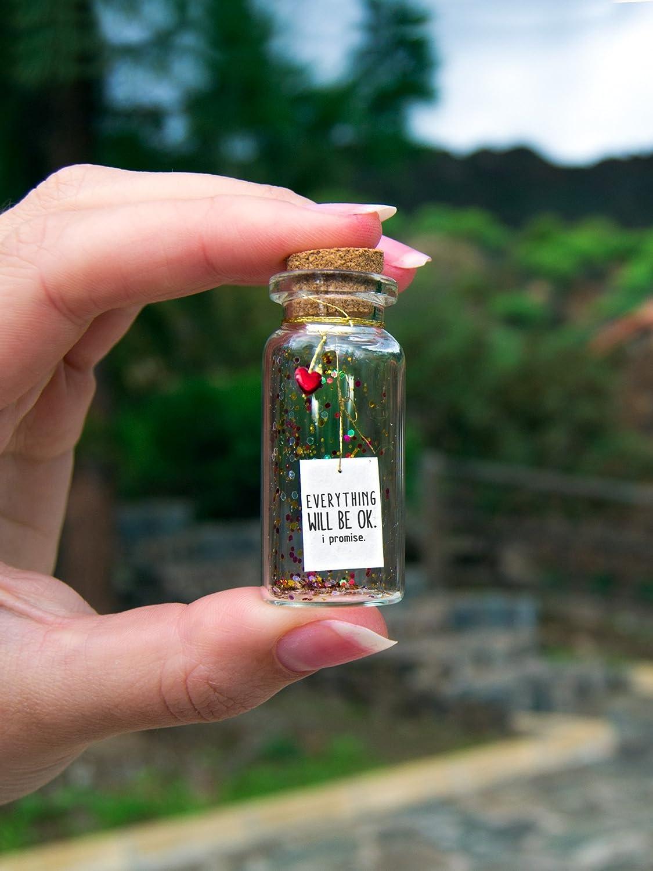 Todo va a salir bien. Te lo prometo. Mensaje en una botella ...