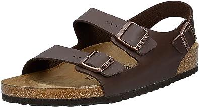 Derechos de autor Sonrisa Shetland  Amazon.com: Birkenstock Milano - Zapatillas para mujer, Marrón: Shoes