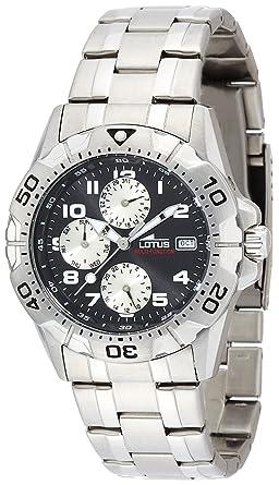Lotus Reloj Cronógrafo para Hombre de Cuarzo con Correa en Acero Inoxidable 15301/9: Amazon.es: Relojes