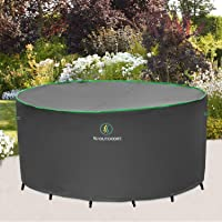 Patio Furniture Covers, Waterproof UV Protection Fade Resistant Cover for Outdoor Small Round Table Chairs Dining Set…