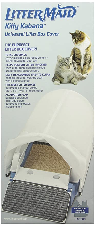 LitterMaid Kitty Kabana Universal Litter Box Privacy Tent (LMT200) & Amazon.com : LitterMaid Kitty Kabana Universal Litter Box Privacy ...