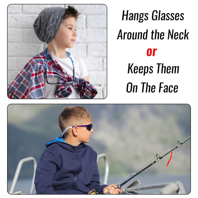 Ava & Kings 6pc Kids Neoprene Glasses Holder Neck Strap Sports Retainer - Boys by Ava & Kings (Image #4)