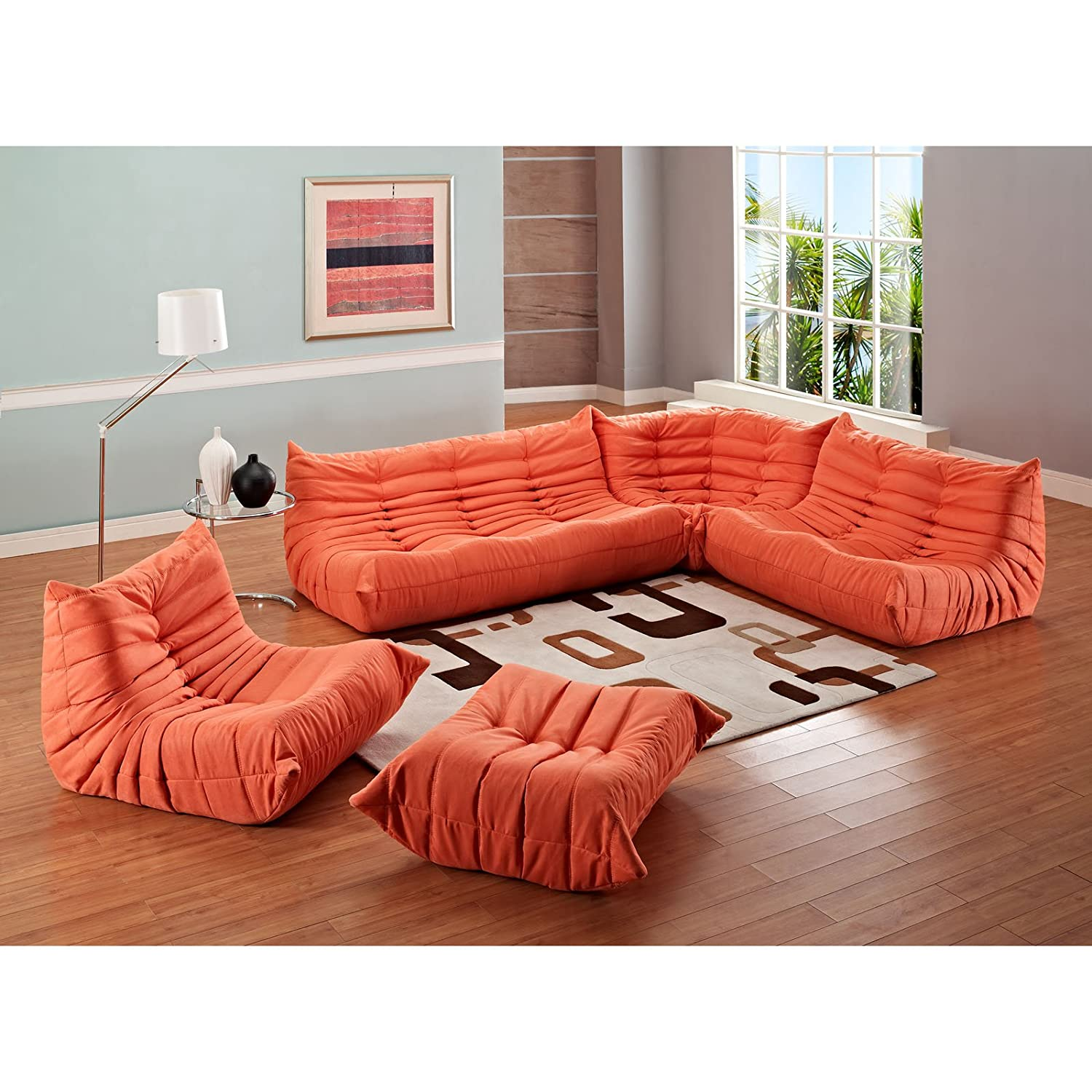Amazon Modway Modern Waverunner Modular Sectional Sofa Set