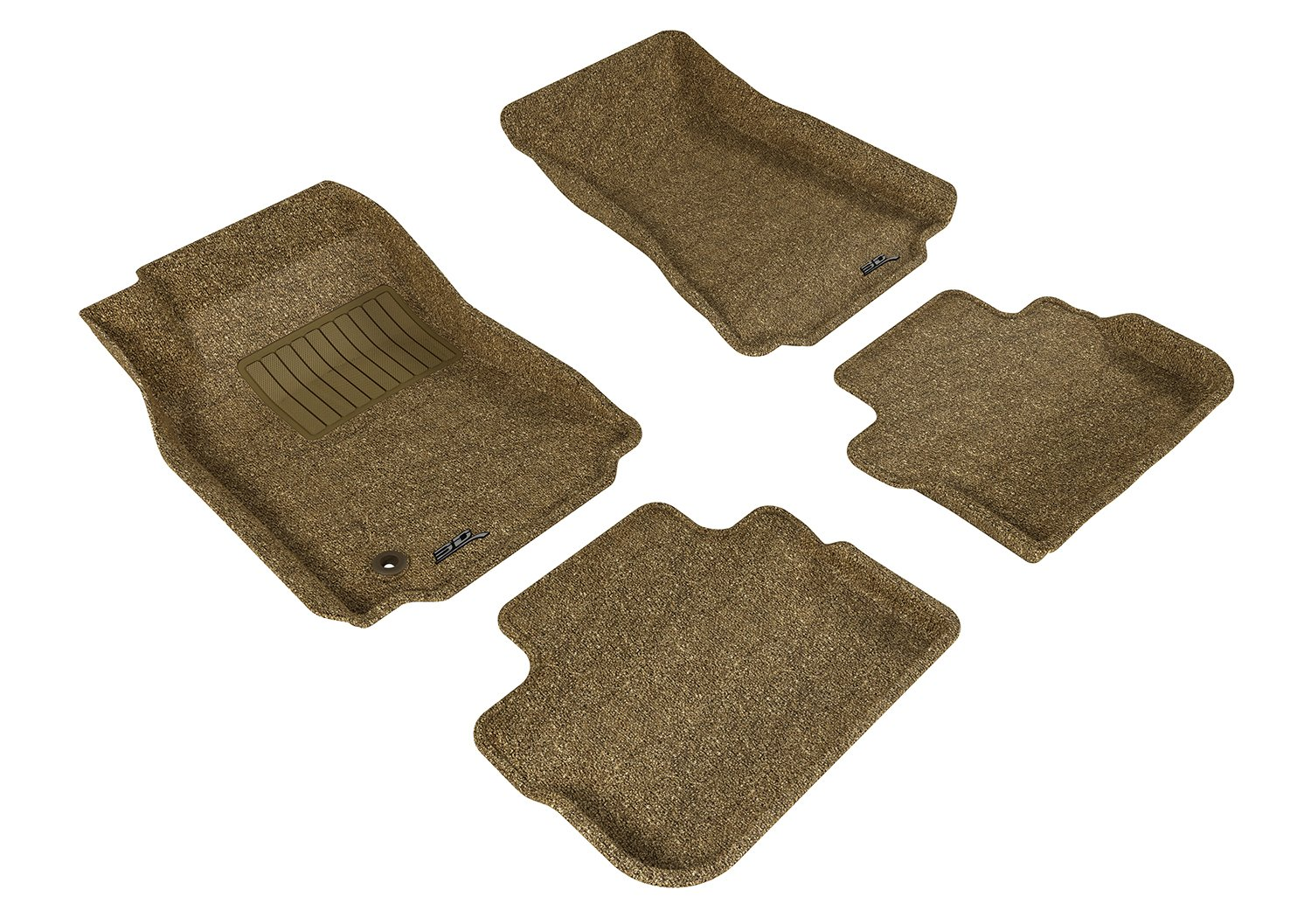 Gray 3D MAXpider Complete Set Custom Fit All-Weather Floor Mat for Select Cadillac CTS Models Classic Carpet L1CD00702201
