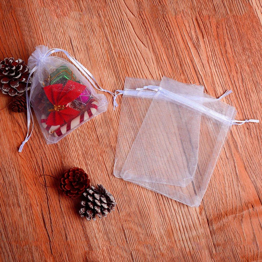 Amazon 100pcs Premium Sheer Organza Bags White Wedding Favor