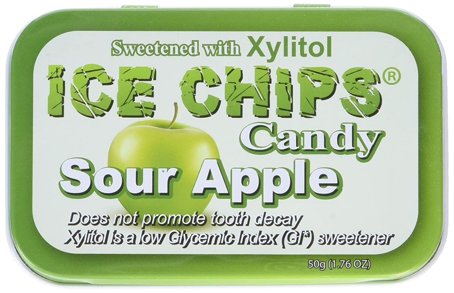 ICE CHIPS Sour Apple Candy, 1.76 Ounce