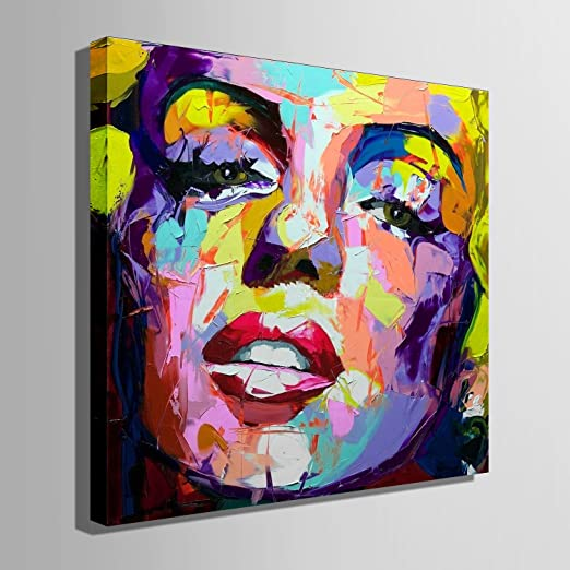 Amazon Co Jp Decorating Painting Hand Painted Wall Art Decor Decoration Arts And Crafts Pretty Face Art Panel Canvas Paintings Impressionism Oil Painting Wall Paintings Wall Decor For Home Decoration 100 Hand Painted Art