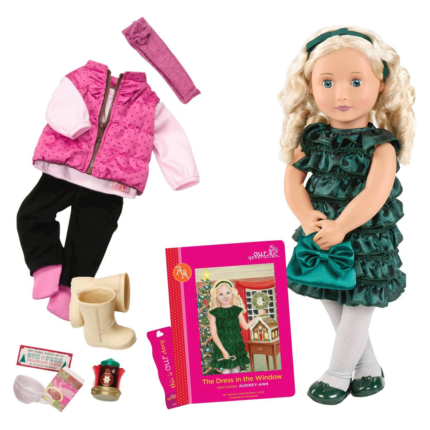 For 18-inch American Girl Doll Accessories Handmade Doll Bag Multi-Color