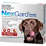 Nexgard, Flea & Tick Monthly Chew, Dog, 25.1-50kg, 6pk