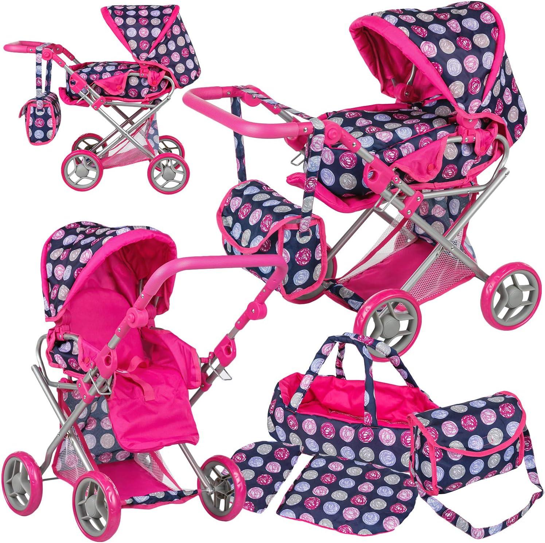 KP0200N Puppenwagen Kinderwagen Babypuppenwagen Puppen KP0200 Puppe Farbwahl Puppenkar Kombi-Puppenwagen 2-in-1