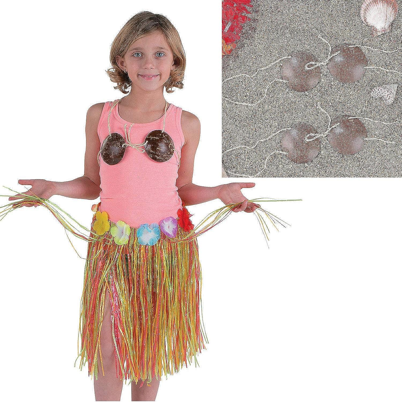ADULT SIZE COCONUT BRA Real Coconuts NEW Tropical Luau Hula Girl Bra