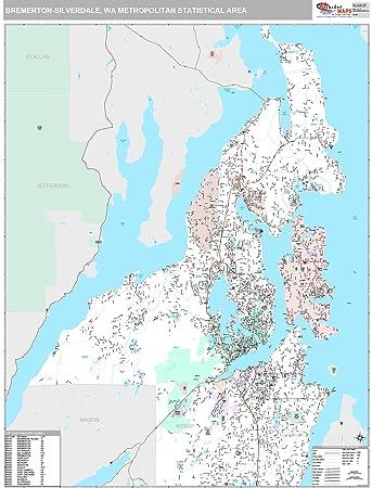Bremerton Wa Zip Code Map.Amazon Com Marketmaps Bremerton Silverdale Wa Metro Area Wall Map