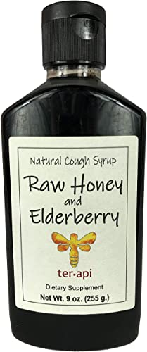 Terapi Natural Cough Syrup, Pleasant Elderberry Flavor, 9 Oz – Honey and Elderberry Blend for Immune Support