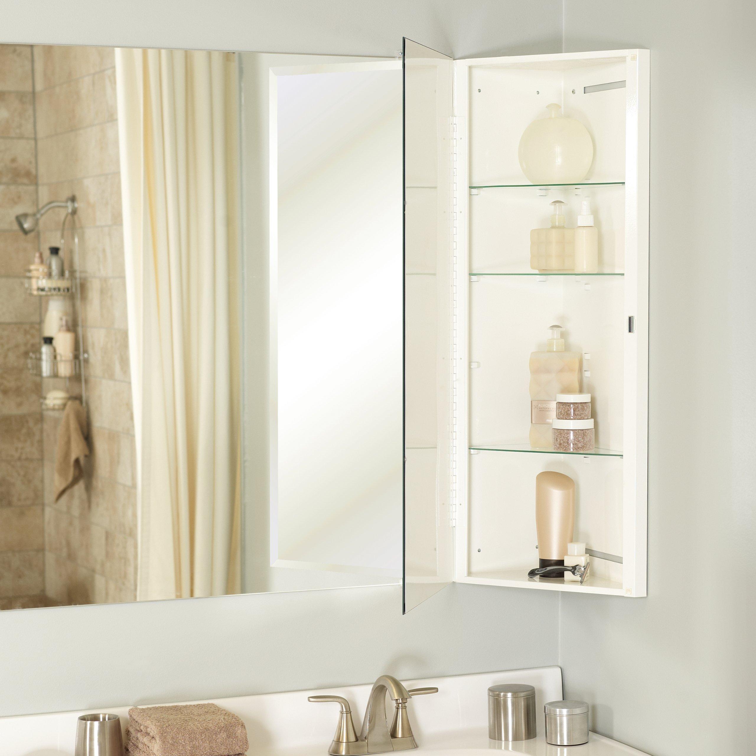 Zenith MB36CVBB, Over-the-Mirror Corner Medicine Cabinet, Frameless ...