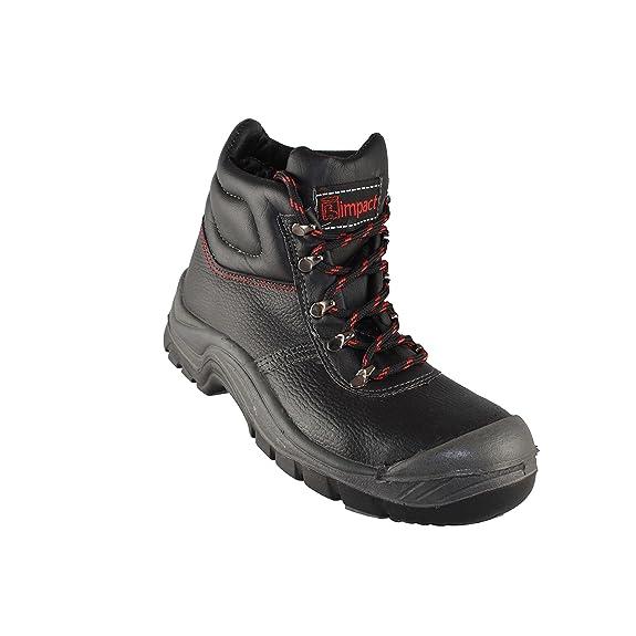 Impact - Chaussures De Protection Homme Noir En Cuir Noir, Couleur Noir, Taille 41 Eu