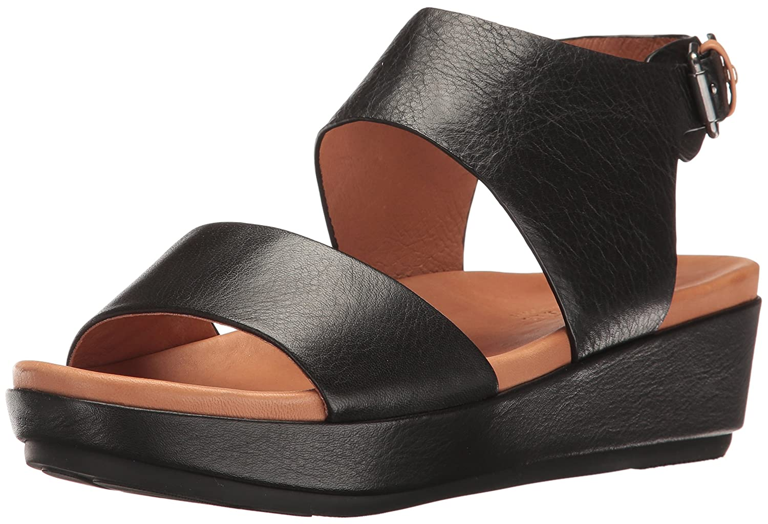 Gentle Souls by Kenneth Cole Women's Lori Platform Sandal B01L9M1LTG 7.5 M US|Black
