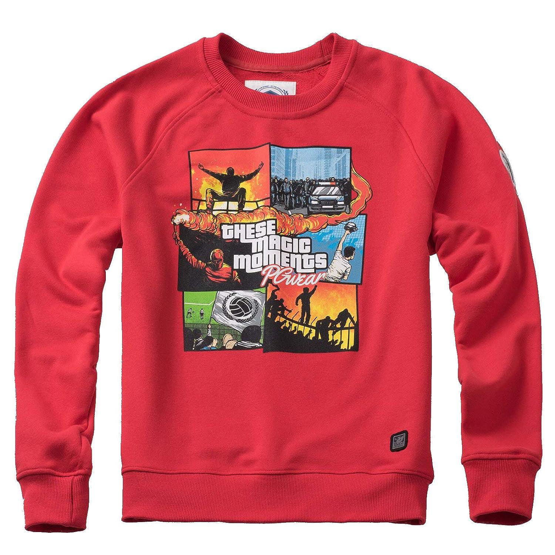PG Wear Herren Sweatshirt These Magic Moments Navy grau rot S-XXXL