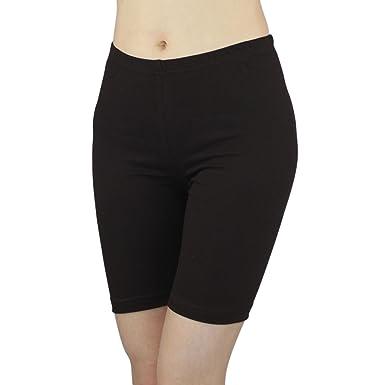 0e183599eda0 Damen Radlerhose Sport Shorts Hotpants Baumwolle Kurze Leggings oberhalb  des Knies  Amazon.de  Bekleidung