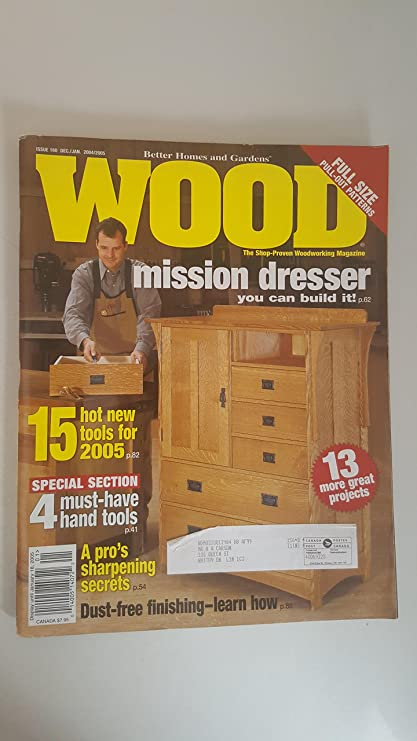 Better Homes And Gardens Wood Magazine December/January 2004/2005 Issue 160  Vol.