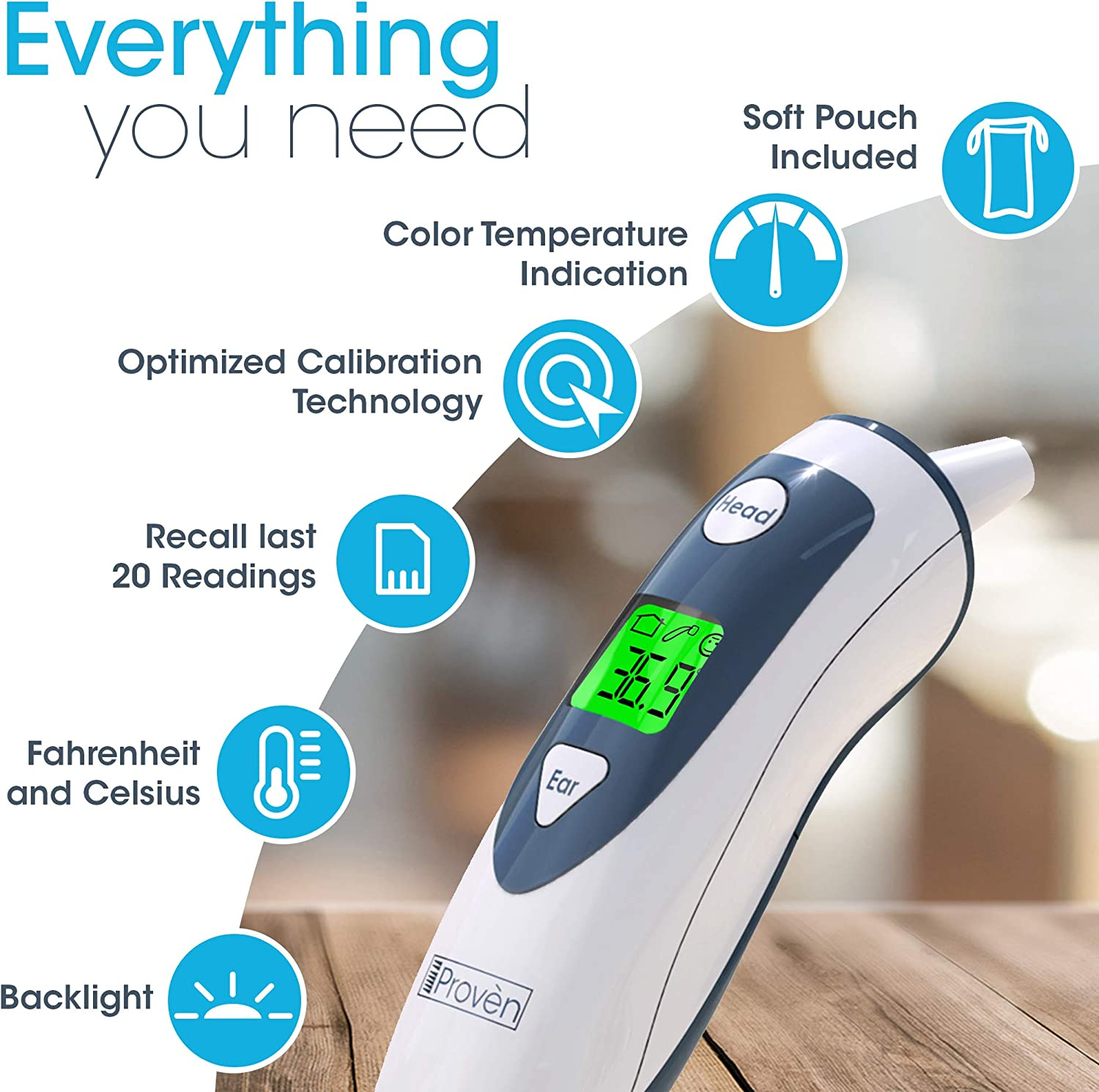 iProven DMT 489 Medical Ear Thermometer