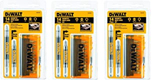 DEWALT DW2097CS 14-Piece Drive Guide Bit Set, 3 Pack
