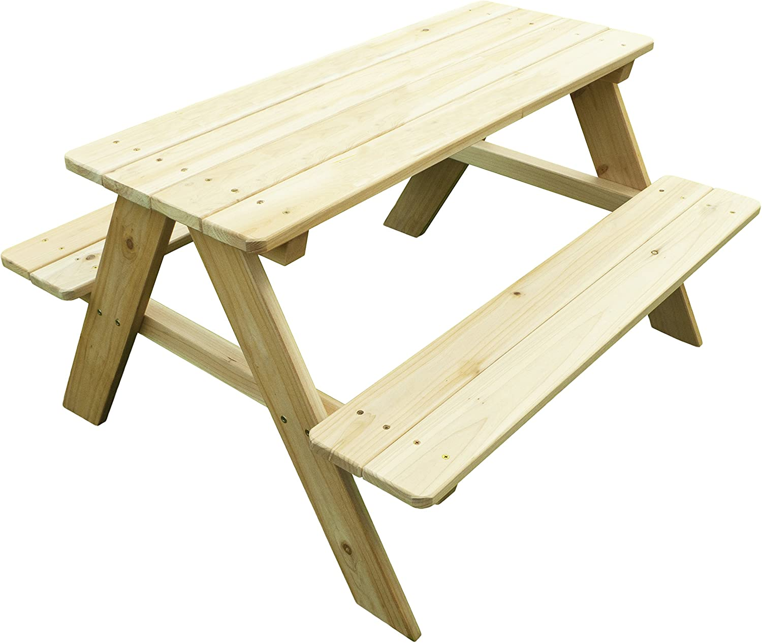 Merry Garden Kids Wooden Picnic Bench Outdoor Patio Dining Table, Natural : Outdoor Benches : Garden & Outdoor