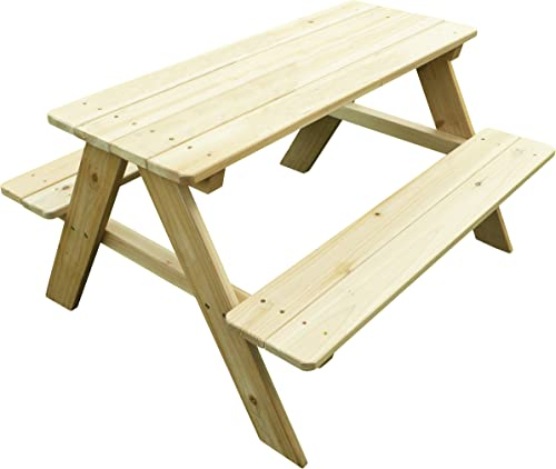Merry Garden Kids Wooden Picnic Bench Outdoor Patio Dining Table