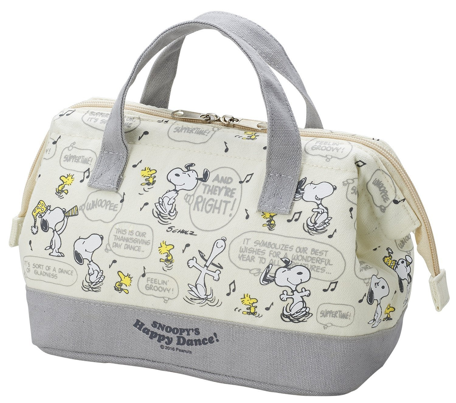 OSK Peanuts Snoopy Lunch Bag ''Happy Dance'' TB-18 from Japan