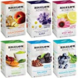 Bigelow Tea Benefits Wellness Teabag Variety Pack, Mixed Caffeinated Green Matcha & Caffeine-Free Herbal Tea, 108 Tea Bags Total