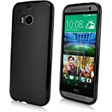 HTC One (M8 2014) Case, BoxWave [Blackout Case] Durable, Slim Fit, Black TPU Cover for HTC One (M8 2014)